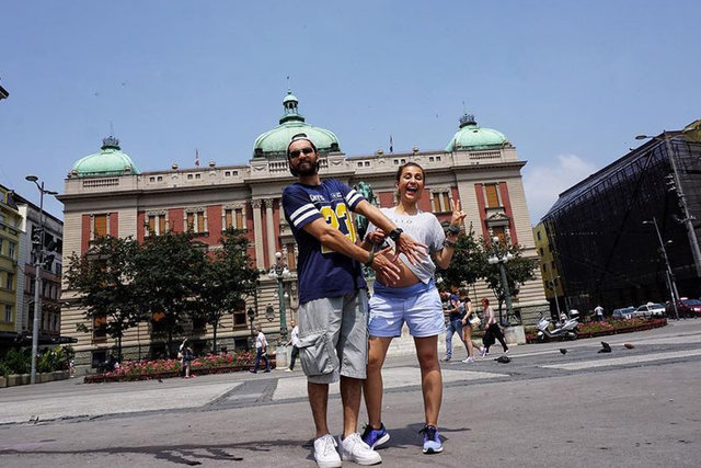 İlker Kızmaz ve eşi Aslı Kızmaz, Avrupa turunda