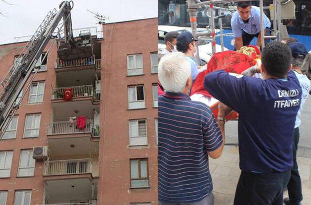 115 kilo olan Münevver Çetinkaya'nın cenazesini evden itfaiye çıkardı