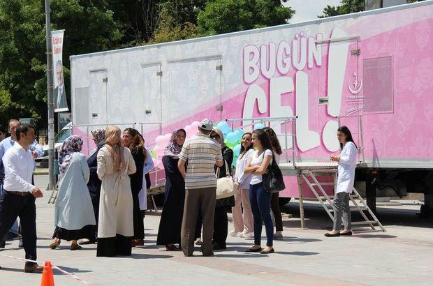 Mobil Kanser Tarama Tır'ı Erzincan'a gitti