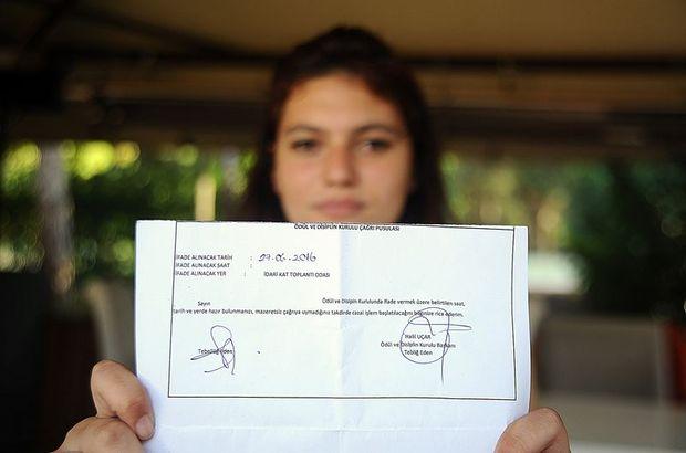 Atatürk'ün Gençliğe Hitabesi´ni okuyan kız öğrencilerden yazılı savunma
