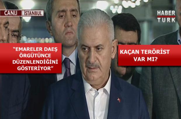 Başbakan Binali Yıldırım'dan Atatürk Havalimanı'nda açıklama: Canlı bomba saldırısı DAEŞ'i işaret ediyor
