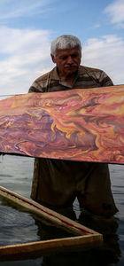 """Marmara Denizi'nde """"Ebru"""" sanatı"""