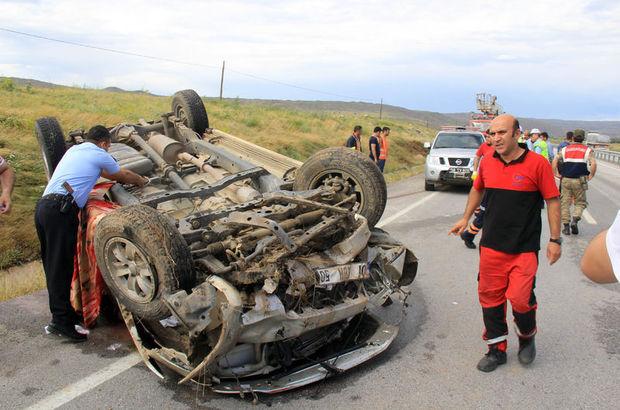 Sivas'ta trafik kazası: 1 ölü 3 yaralı