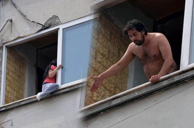 Erkek şiddetinden kurtulmak için 4. kattan atlayacaktı