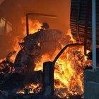 Uşak'ta iplik fabrikasında yangın
