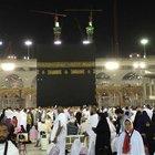 Mekke'de Kabe yakınında izdiham
