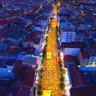 Türkiye'nin en büyük iftar sofrası Uşak'ta kuruldu
