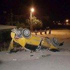 Hatay'da motosiklete çarpan taksi takla attı: 2 ölü, 6 yaralı