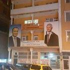 Yozgat'ta, Davutoğlu'nun fotoğrafının üzerine Başbakan Yıldırım'ın fotoğrafı yapıştırıldı