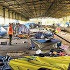 Yunanistan'daki sığınmacı kampında kavga