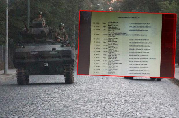 Darbecilerin görev listesi! Gözaltındaki generalin çantasından çıktı