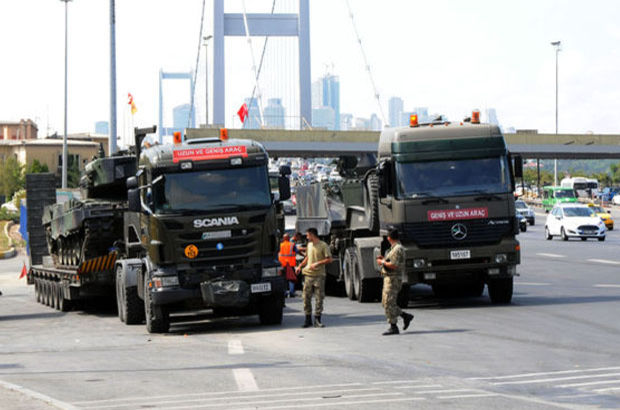 Boğaziçi Köprüsü'nü kapatan tanklarla ilgili son durum