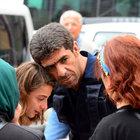 Trabzon'da kız çocuğu ve polis arasında duygusal anlar
