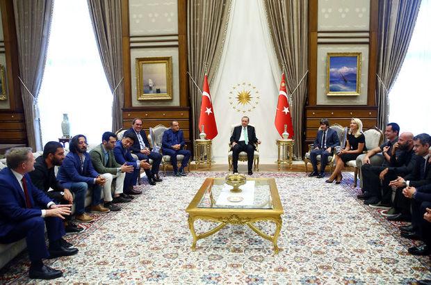 Spor camiasından Erdoğan'a ziyaret