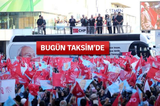 CHP mitinginde Ak Parti ile el ele