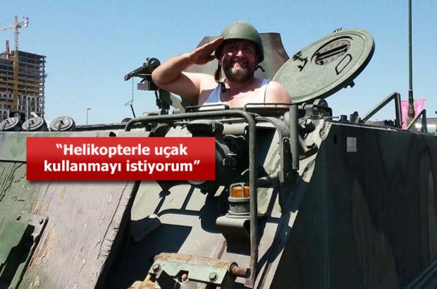 Beş dakikada tank kullanmayı öğrenen Mehmet Köse o anları anlattı