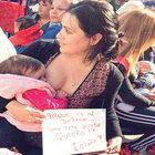 Arjantin'de binlerce kadın emzirme eylemine katıldı