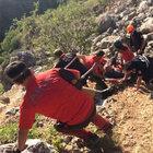Eskişehir'de protez bacakları kırılınca mahsur kaldı