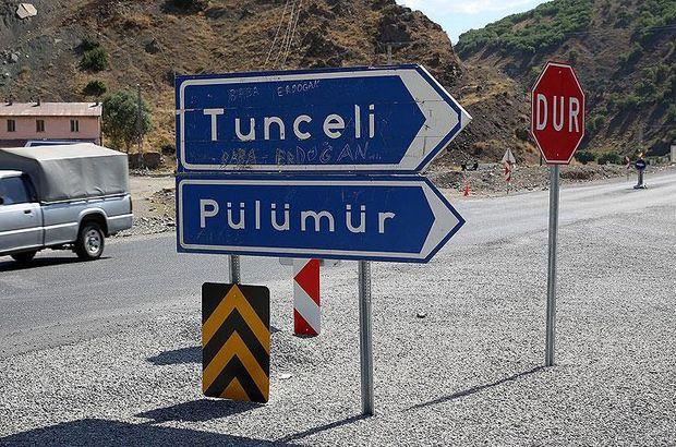 Tunceli'de bazı yollar ulaşıma kapatıldı