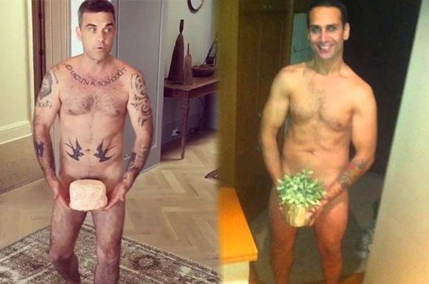 Robbie Williams'tan çıplak poz: Hayaller Kardashian, gerçekler Doğuş!