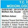 T.C. İSTANBUL ANADOLU 3. İCRA VE İFLAS MÜDÜRLÜĞ...