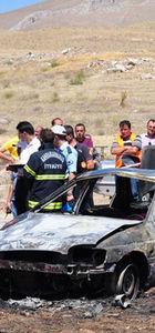 Kahramanmaraş'ta emekli polis kazada yanarak öldü