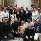 Cumhurbaşkanı Erdoğan demokrasi nöbetindeki ünlüleri kabul etti