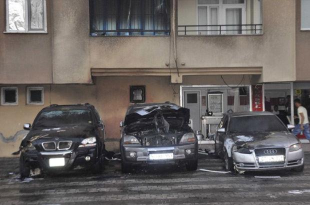 Antalya'da 3 lüks otomobili kundakladılar
