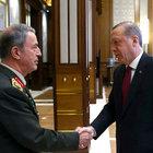 Cumhurbaşkanı, Org. Akar ve kuvvet komutanlarını kabul ediyor