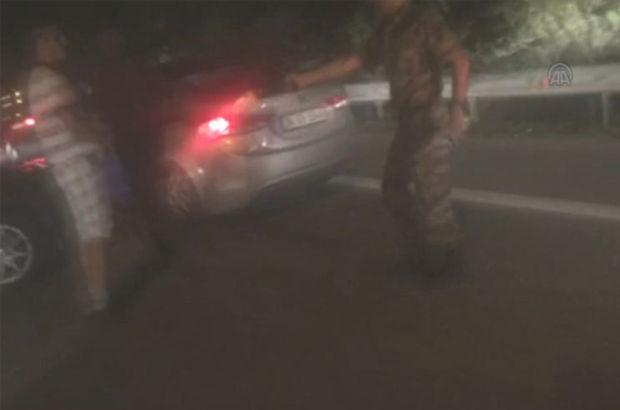 Darbeci askerleri engellemeye çalışan vatandaşı böyle vurdular!