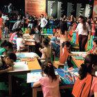 Taksim'de çocuklar 15 Temmuz'u çiziyor