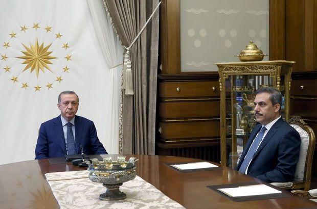 CUmhurbaşkanı Recep Tayyip Erdoğan MİT Müsteşarı Hakan Fidan