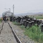 Yozgat'ta yük treni raydan çıktı, 7 vagon devrildi