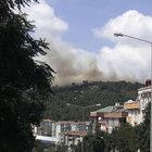 Kartal'daki orman yangın