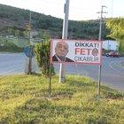 Ferizli Belediyesi'nden 'Dikkat FETÖ çıkabilir' yazılı levha