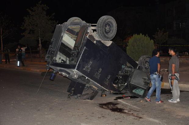 Zırhlı askeri araç kaza yaptı: 1 şehit, 2 polis yaralı