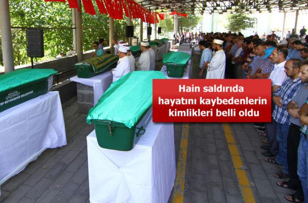 Gaziantep'te cenazeler toprağa verildi