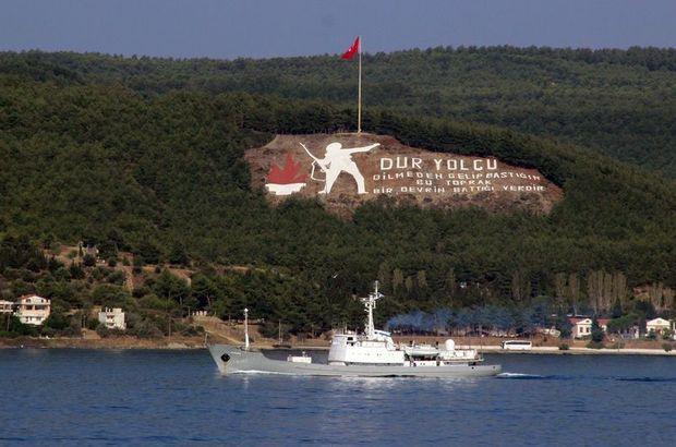 Rus istihbarat gemisi boğazdan geçti