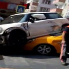 İstanbul Pendik'te ilginç kaza!