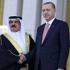 Cumhurbaşkanı Erdoğan Bahreyn Kralı Halife'yi törenle karşıladı