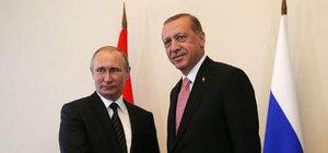 Erdoğan'la Putin Suriye'yi görüştü