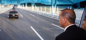 Cumhurbaşkanı Erdoğan, Yavuz Sultan Selim Köprüsü'nden böyle geçti