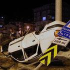 Şehit cenazesine giden aile kaza yaptı: 5 yaralı