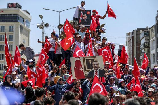 12. Cumhurbaşkanı Erdoğan'ın görevdeki ikinci yılı ile ilgili görsel sonucu