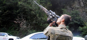 Trabzon Maçka'da teröristler için operasyon sürüyor