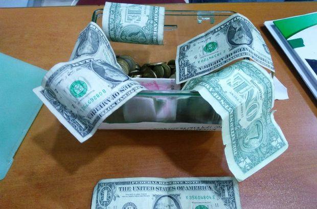'F' seri numaralı bir dolarlara karşı bakın ne yaptı