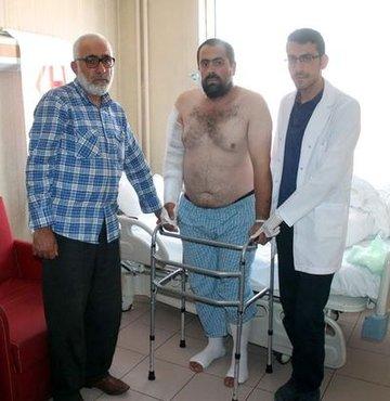 Oğuz Karaca, ameliyat sonrası üçüncü günde kaldırılıp yürütüldü. Şu an durumu iyi