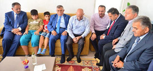 Bakan Özhaseki, 15 Temmuz şehidinin ailesini ziyaret etti