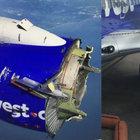 Havada motoru parçalanan yolcu uçağı acil iniş yaptı