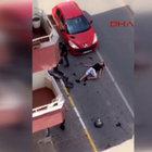 Pendik'te üzerinden otomobil geçti, ayağa kalkmaya çalıştı!